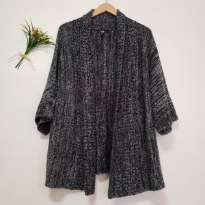 AGB oversized open front knitted cardigan L